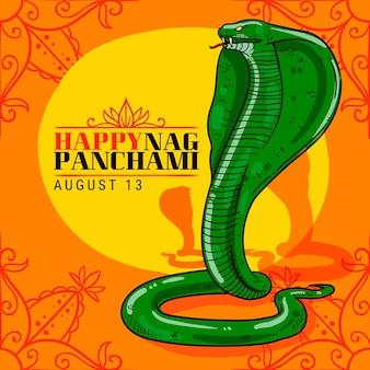 Illustration de panchami nag dessiné à la main