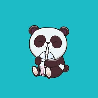 Illustration de panda animal mignon