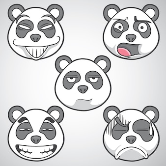 Illustration de panda émoticône