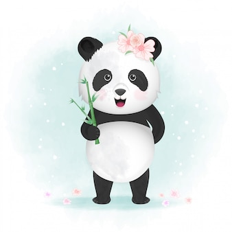Illustration de panda mignon