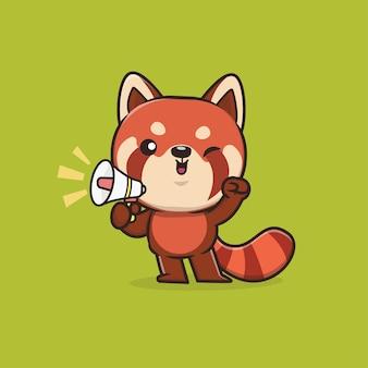 Illustration de panda rouge animal mignon