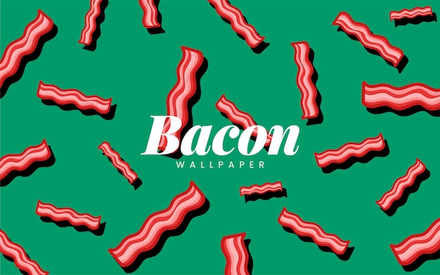 Illustration de papier peint motif de bacon
