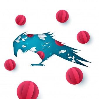 Illustration de papier raven