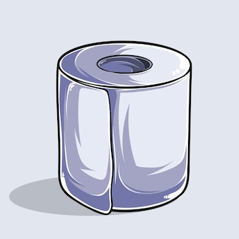 Illustration d'un papier toilette de haute qualité et ombres, produit d'hygiène, pour la prévention du virus en bouteille.