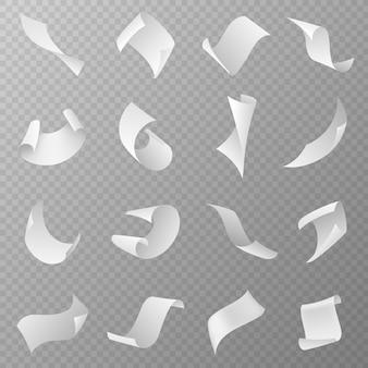 Illustration de papiers volants