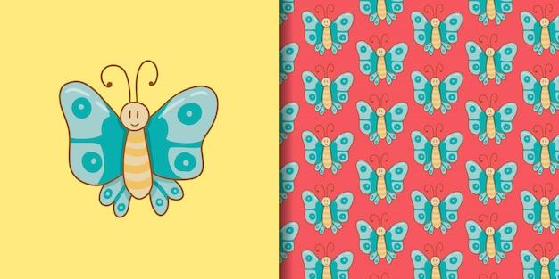 Illustration de papillon mignon simple