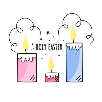 Illustration de pâques sainte