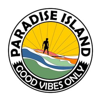 Illustration de paradise island