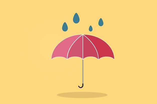 Illustration d'un parapluie