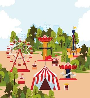 Illustration de parc d'attractions