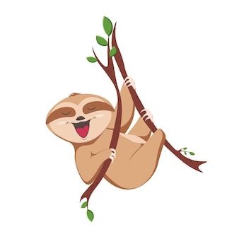 Illustration de paresseux bébé mignon