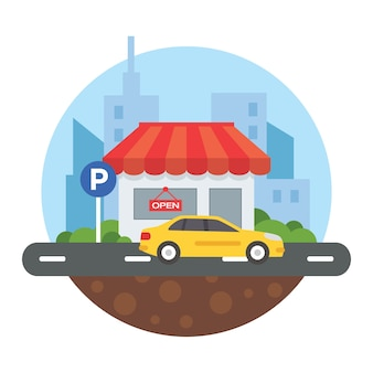 Illustration de parking