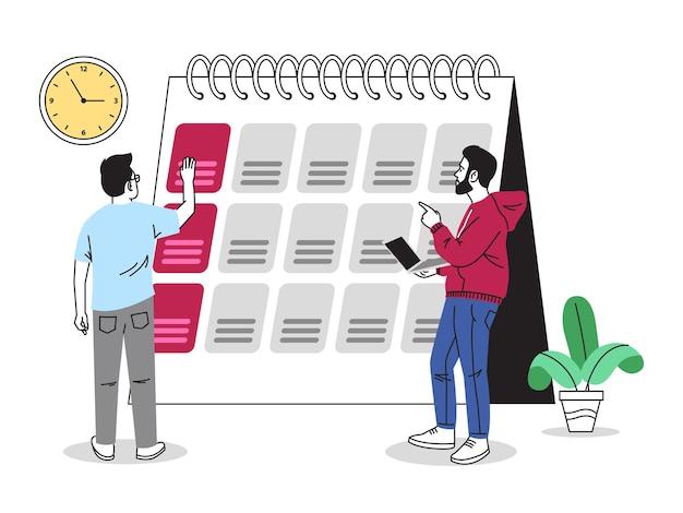 Illustration de partage d'horaire