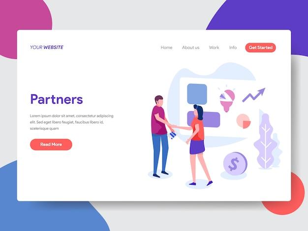 Illustration de partenaire commercial pour la page d'accueil