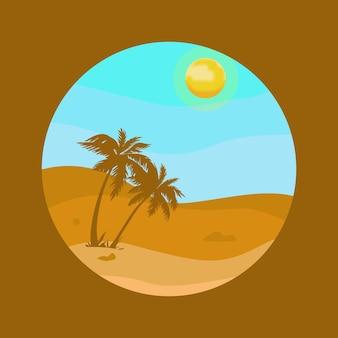 Illustration de paysage de bord de mer
