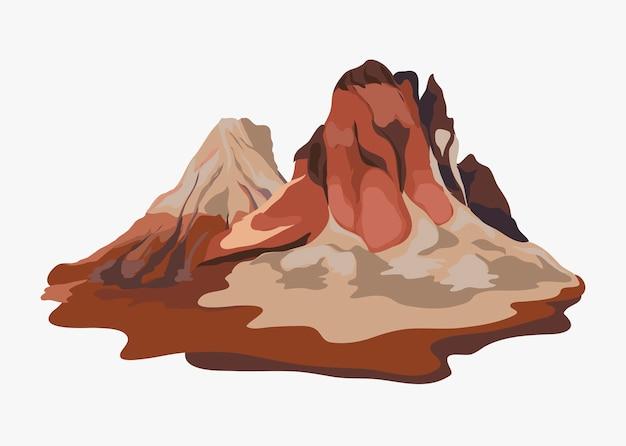 Illustration de paysage de montagne peinte