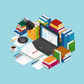 Illustration pédagogique de livres éducatifs