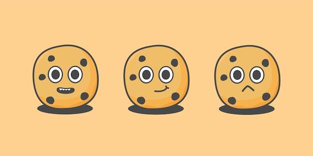 Illustration de personnage de biscuits mignons