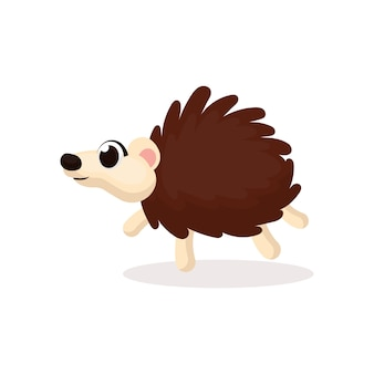 Illustration d'un personnage de hérisson mignon avec style de dessin animé