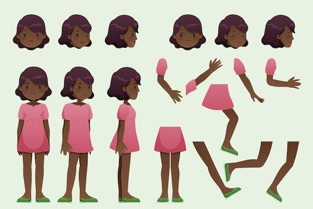 Illustration de personnage pose