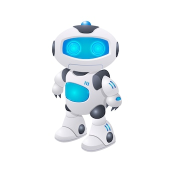 Illustration de personnage de robot moderne intelligence artificielle des technologies futures