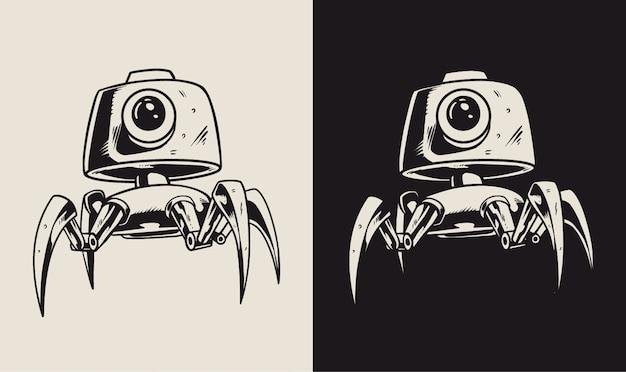 Illustration de personnage de robot de vidéosurveillance