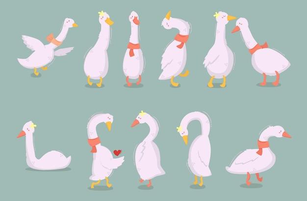 Illustration de personnages de dessin animé de canard
