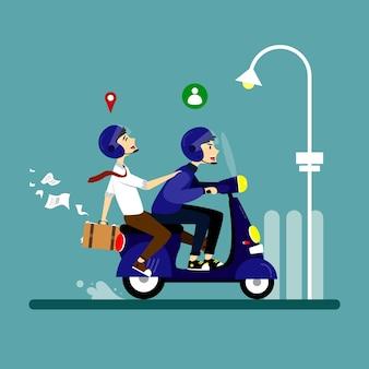 Illustration des personnages du service de transport