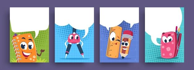 Illustration de personnages scolaires