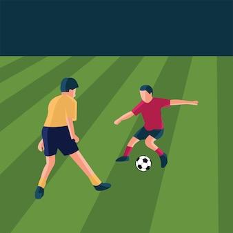 Illustration de personne de football dans un style plat