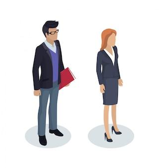 Illustration de personnes travaillant homme d'affaires