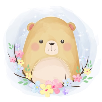 Illustration de petit ours mignon