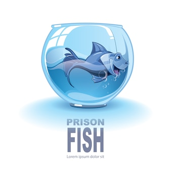 Illustration de petit poisson bleu
