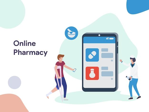 Illustration de pharmacie en ligne
