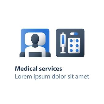 Illustration de pharmacie et de médecine