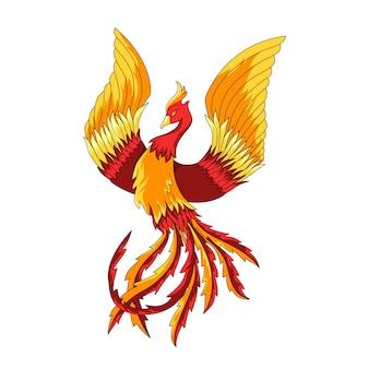Illustration de phoenix dessiné à la main