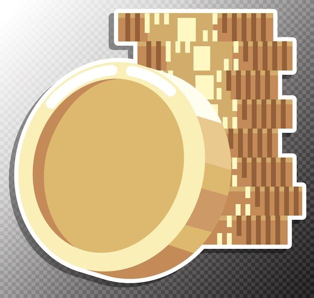 Illustration de la pièce de monnaie dans un style plat