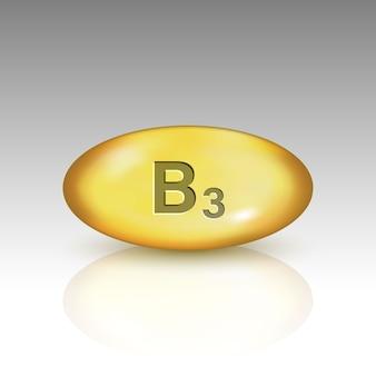 Illustration de pilule de goutte de vitamine