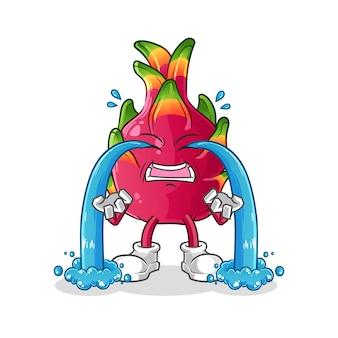Illustration de piment qui pleure. personnage