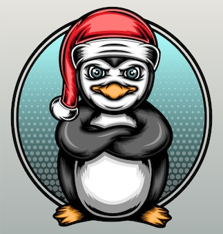 Illustration de pingouin de noël.