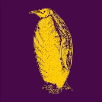 Illustration de pingouin vue de côté