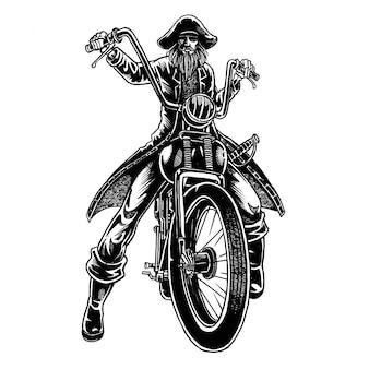 Illustration de pirate rider