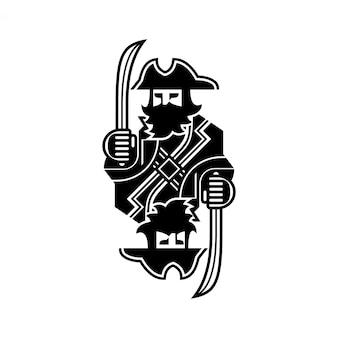 Illustration de pirate simple