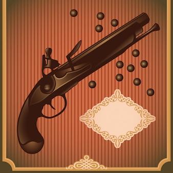 Illustration de pistolet antique