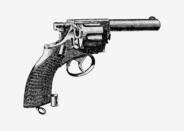 Illustration de pistolet vintage