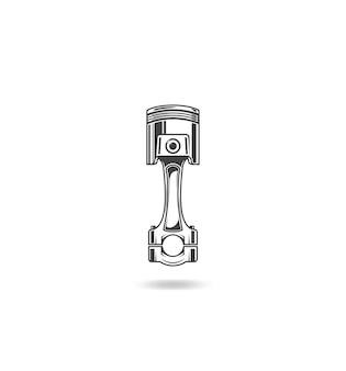 Illustration De Piston Sur Fond Blanc Vecteur Premium
