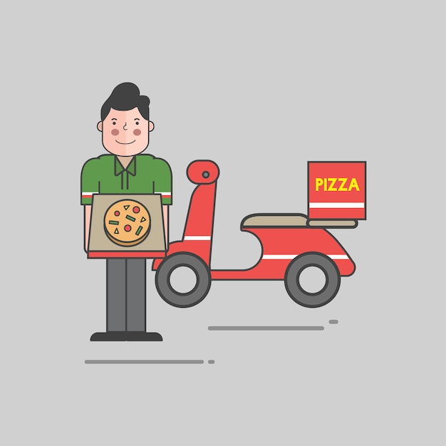 Illustration de la pizza vector set