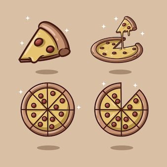 Illustration de pizza