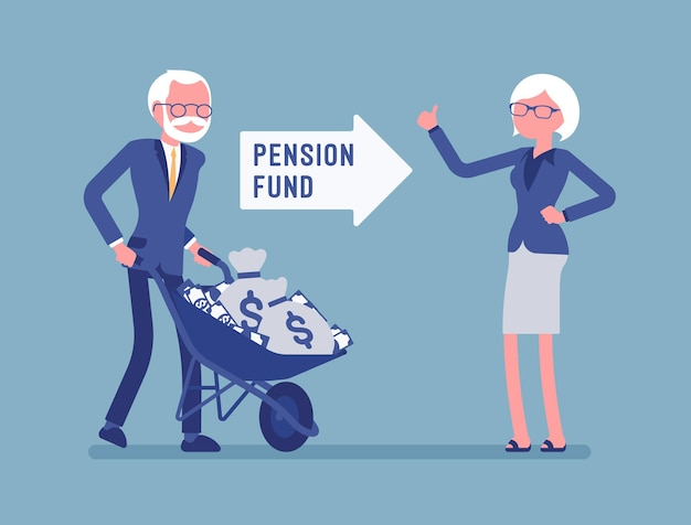 Illustration de placement de fonds de pension