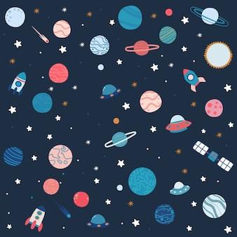 Illustration de planète mignonne